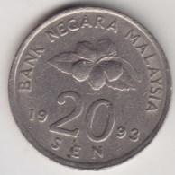 @Y@   Maleisie  20 Sen  1993  (4191) - Maleisië