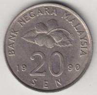 @Y@   Maleisie  20 Sen  1990  (4190A) - Maleisië