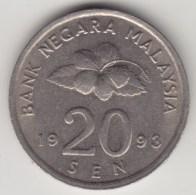 @Y@   Maleisie  20 Sen  1993  (4192) - Maleisië