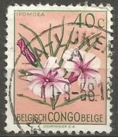 Belgian Congo - 1952 Flowers Series 40c Used   SG 300  Sc 267 - Belgian Congo