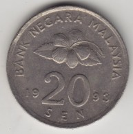 @Y@   Maleisie  20 Sen  1993  (4193) - Maleisië