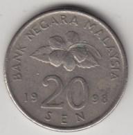 @Y@   Maleisie  20 Sen  1998  (4194) - Maleisië