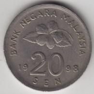 @Y@   Maleisie  20 Sen  1998  (4195) - Malaysie