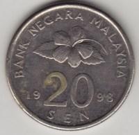 @Y@   Maleisie  20 Sen  1998  (4198) - Maleisië