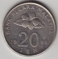 @Y@   Maleisie  20 Sen  1999  (4199) - Malaysie