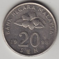 @Y@   Maleisie  20 Sen  1999  (4199) - Maleisië