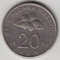 @Y@   Maleisie  20 Sen  1998  (4200) - Maleisië