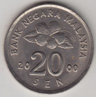 @Y@   Maleisie  20 Sen  2000  (4202) - Maleisië