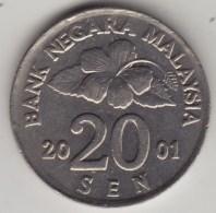 @Y@   Maleisie  20 Sen  2001  (4203) - Maleisië