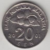 @Y@   Maleisie  20 Sen  2001  (4204) - Maleisië