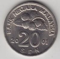 @Y@   Maleisie  20 Sen  2001  (4205) - Malaysie