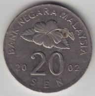 @Y@   Maleisie  20 Sen  2002  (4206) - Maleisië