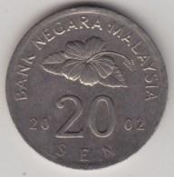 @Y@   Maleisie  20 Sen  2002  (4208) - Maleisië