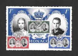 MONACO - PLACE DU PALAIS - PRINCE RAINIER III ET LA PRINCESSE GRACE KELLY - MAGNIFIQUES TIMBRES BELLES OBLITÉRATIONS - Prince's Palace