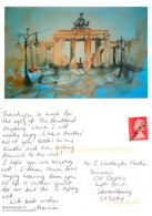 Martin Reinhartshuber, Brandenburger Tor Berlin, Art Painting Postcard Posted 2010 Stamp - Peintures & Tableaux