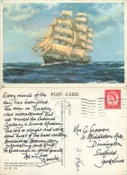 J A H Terry, The Cutty Sark Square Rigger, Art Painting Postcard Posted 1964 Stamp - Pittura & Quadri