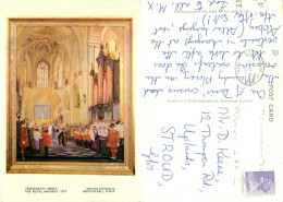 Arthur Bell, Tewkesbury Abbey, Art Painting Postcard Posted 1982 Stamp - Pittura & Quadri