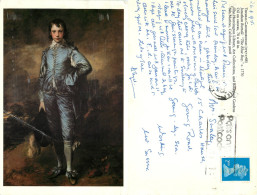 Thomas Gainsborough, Art Painting Postcard Posted 1995 Stamp - Schilderijen