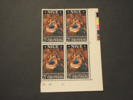 NIUE - 1967 QUADRO/NATALE, In Quartina(block Of Four) - NUOVI(++) - Niue