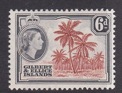 Gilbert And Ellice Islands SG 70 1956 Queen Elizabeth II Six Pence Mint Light Hinged - Gilbert & Ellice Islands (...-1979)