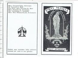 Kl 3170 ( 2 Scans ) Notre Damme - Madonna -  Pro Maria Ik Ben De Maagd Der Armen Groot Antwerpen - Religion & Esotérisme