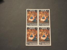 NIUE- 1967 QUADRO/NATALE, In Quartina(block Of Four) - NUOVI(++) - Niue
