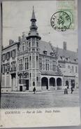 CPA Belgique - Courtrai - Rue De Lille, Poids Public - 1906 - Belle Oblitération - 2 Photos - Autres