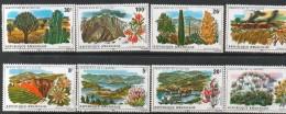 1975 Rwanda Rwandaise   Nature  Protection Zebra Plants Flowers    Complete Set Of 8 MNH. - Rwanda