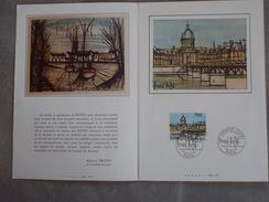 FDC Double Page - Bernard Buffet - Le Pont Des Arts à Paris 04/02/1978 - FDC