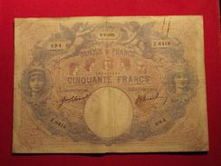 RARE ♦ Billet 50 F Bleu Et Rose ♦ Du 9-9- 1915 ♦ Alph. Z.6418 FAY14/28 - 50 F 1889-1927 ''Bleu Et Rose''