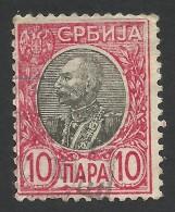 Serbia, 10 P. 1905, Sc # 89, Mi # 86, Used - Serbien