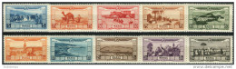 Maroc 1928. Michel #77/86 MNH/Luxe. Airplanes. Fauna. (B13/14) - Aéreo