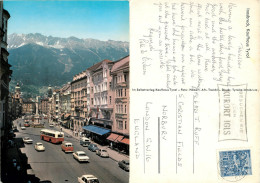 Cars, Innsbruck, Tirol, Austria Postcard Posted 1969 Stamp - Innsbruck