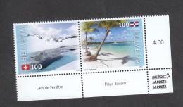 Schweiz ** 2464-2465 Gemeinschaftsausgabe Schweiz Dom. Republik Neuausgabe 17.11. 2016 Postpreis 2,00 CHJF - Ungebraucht