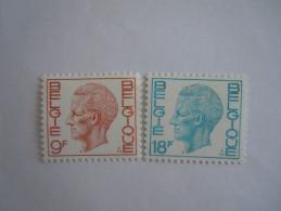 België Belgique Belgium 1977 Boudewijn Baudouin Type Elström 1962-1963 Yv 1870-1871 MNH ** - 1970-1980 Elström