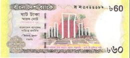 Bangladesh - Pick 61 - 60 Taka 2012 - Unc - *Commemorative* - Bangladesh