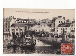 Belle Ile En Mer (Isle) - Le Départ Du Vapeur Pour Quiberon / Editions Petitjean N°129 - Belle Ile En Mer