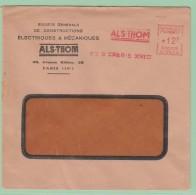 Fr19. EMA   Alsthom  Paris - Storia Postale