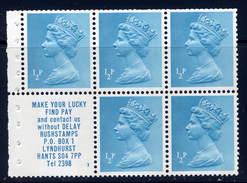 Great Britain Sc# MH22A  MNH   Booklet Pane  1970 - 1952-.... (Elizabeth II)
