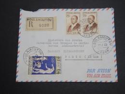 GABON - Enveloppe En Recommandé De Koulamoutou Pour La France En 1965 , Affranchissement Plaisant - A Voir - L 5753 - Gabon