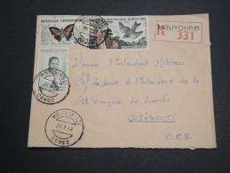 CONGO - Enveloppe En Recommandé De Mouyondzi Pour Djibouti En 1962 , Affranchissement Mixte Plaisant - A Voir - L 5754 - République Du Congo (1960-64)