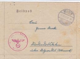 Feldpost WW2: Schwere Artillerie Ersatz Abteilung 5 In Ulm P/m Neu-Ulm 15.12.1943 - Letter Inside  (T1-36) - Militaria