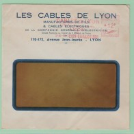 Fr19. EMA   Cables De Lyon     Lyon 22.2.50 - Storia Postale