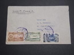 VENEZUELA - Enveloppe Commerciale ( Retaillée ) Pour La France Par Avion , Affranchissement Plaisant - A Voir - L 5757 - Venezuela