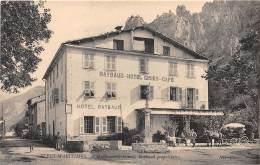 06 - ALPES MARITIMES / Guillaumes - Ginief - Hôtel Ciniey - Café - France