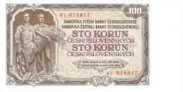 Czechoslovakia - Pick 86b - 100 Korun 1953 - Unc - Tchécoslovaquie