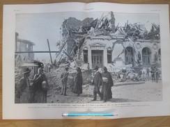 CHILI   Valparaiso  Tremblement De Terre  Earthquake 1905 La Destruction De Valparaiso  PLAZA DE LA VICTORIA - Old Paper