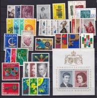 Liechtenstein 1964-1968 Collection Of Sets  / Singles + 1 Block Between Mi 445 / 505 MH - Liechtenstein