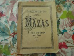 """Ancienne Partition Collection Litolff """" N°1122 MAZAS 6 Duos Très Faciles Pour 2 Violons - Musique & Instruments"""