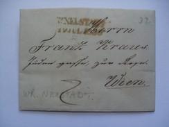 AUSTRIA 1836 VORPHILA ENTIRE WIENER NEUSTADT TO WIEN WITH WIEN DATESTAMP IN BLACK TO REAR - Österreich